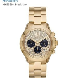NWT Michael Kors Bradshaw Gold Stainless Steel